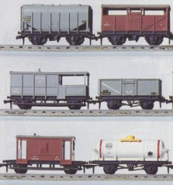 Super Detail Wagons (Bulk Grain Top Left)